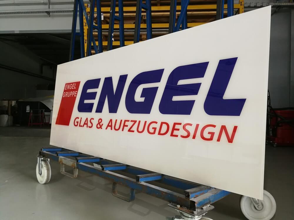 Engel Glas und Aufzugdesign Logo