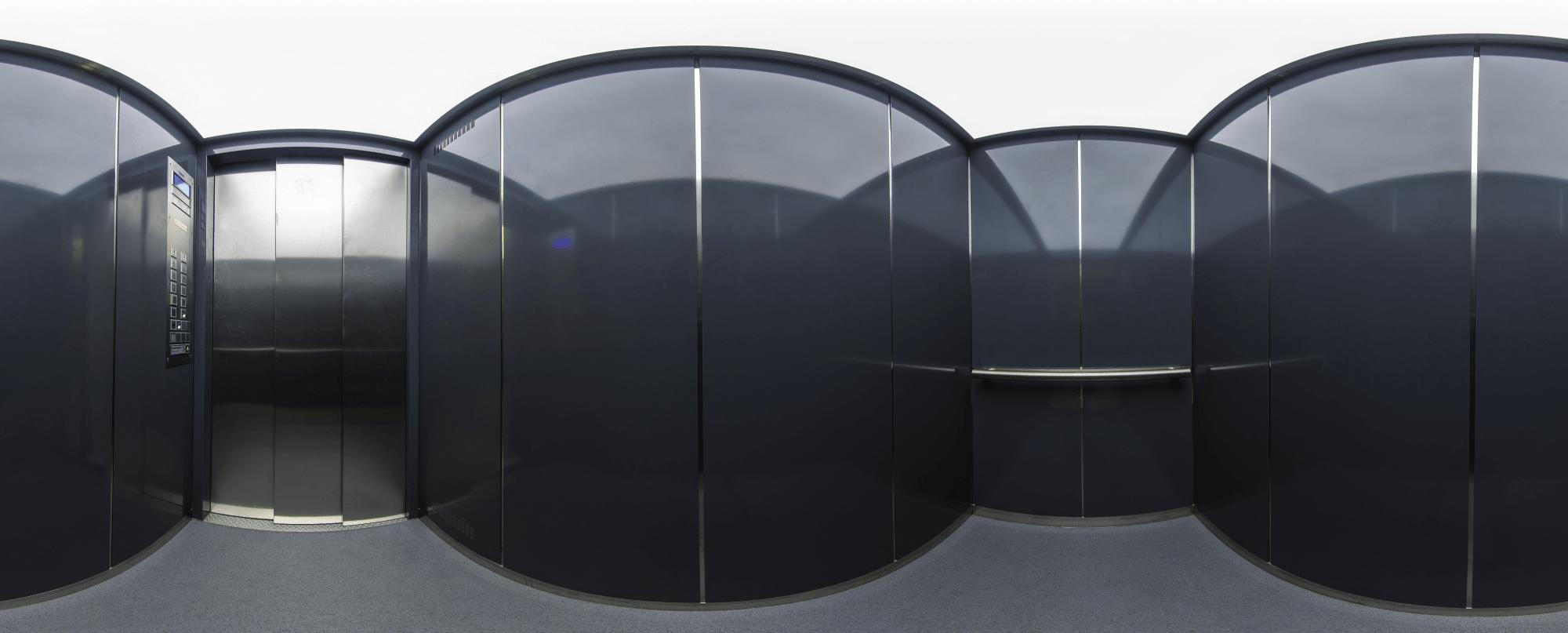 Aufzug Innenausstattung Panorama